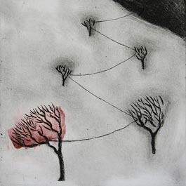 Distance Red, etching