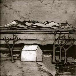 Empty House, etching