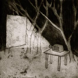 Projector, etching