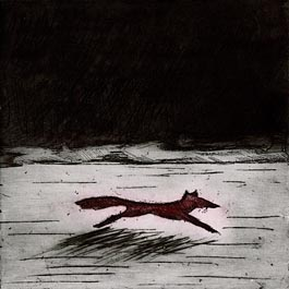 Red Fox, etching