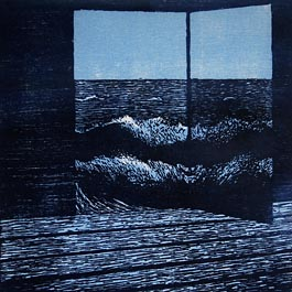 Glass Door, woodcut