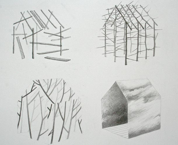 Four House drawing